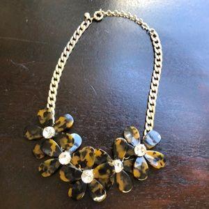 J. Crew Jewelry - J Crew tortoise shell flower necklace